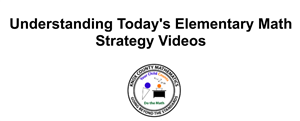 Elementary Math Strategy Videos