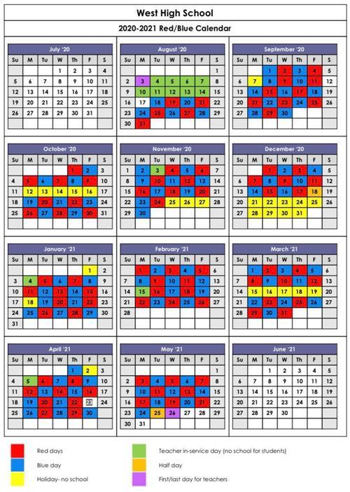 Red/Blue Calendar / Red/Blue Calendar