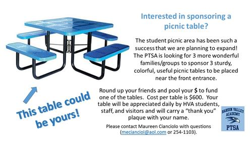 $600 to sponsor a table