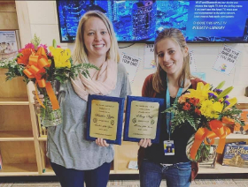 Teachers of the Year Ms. Zajac and Ms. Neif
