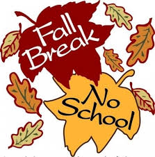 Fall Break October 12th - 16th!