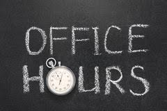 Office Hours for Summer