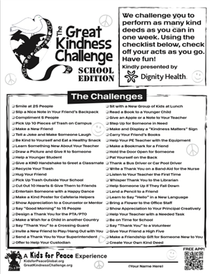 Challenge of kind acts