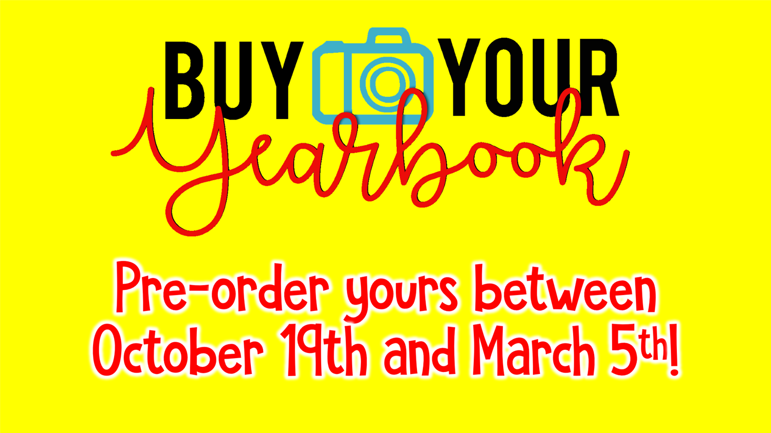 Pre-Order Yearbooks.