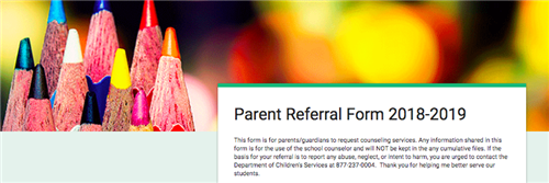 FPS Parent Referral Form