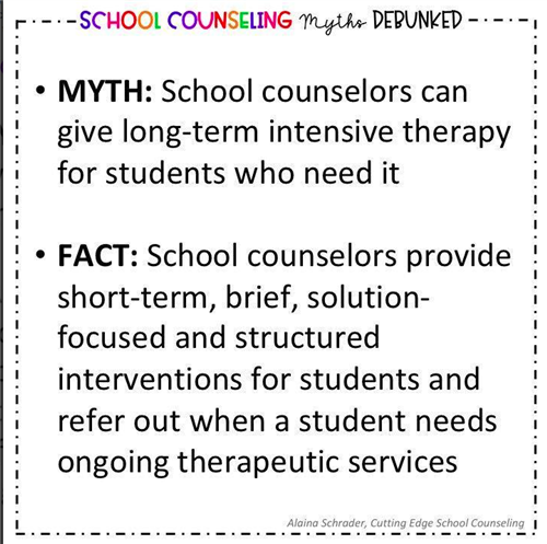 School Counseling Myth