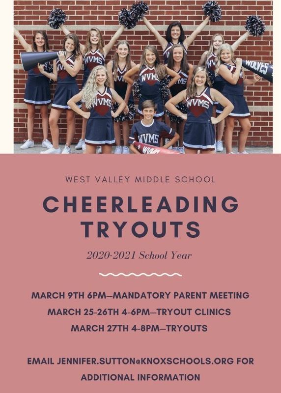 West Valley Middle School Cheer Tryouts