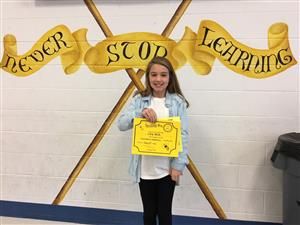 Lucy Beck - Spelling Bee Winner