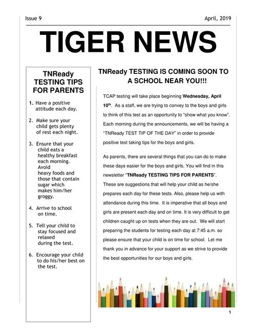 Tiger News page 1