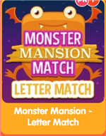 Monster Mansion Match Letter Match