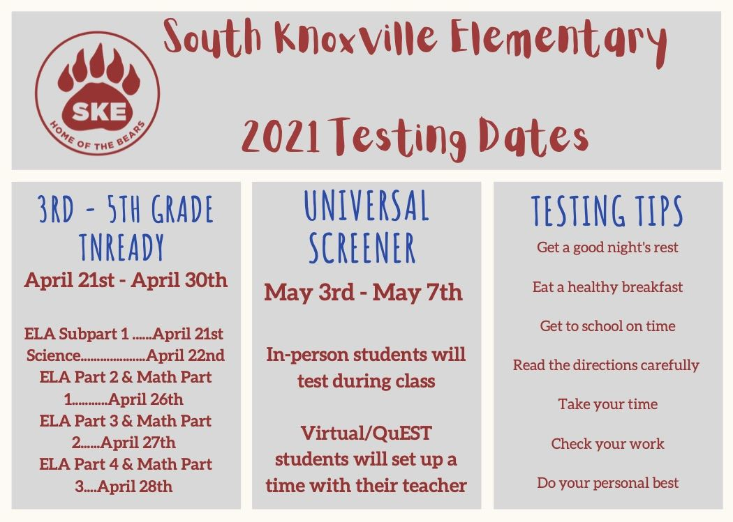 TNReady Test Dates