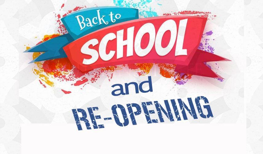 Back to School News and School Re-Opening Plan