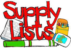 2018-2019 Supply Lists