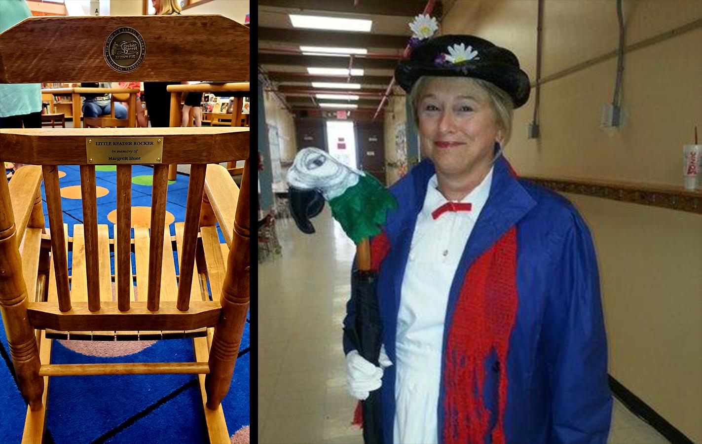 On Sept. 9, Adrian Burnett Elementary unveiled a 'Reader Rocker' chair in honor of former teacher Margrett Hunt.