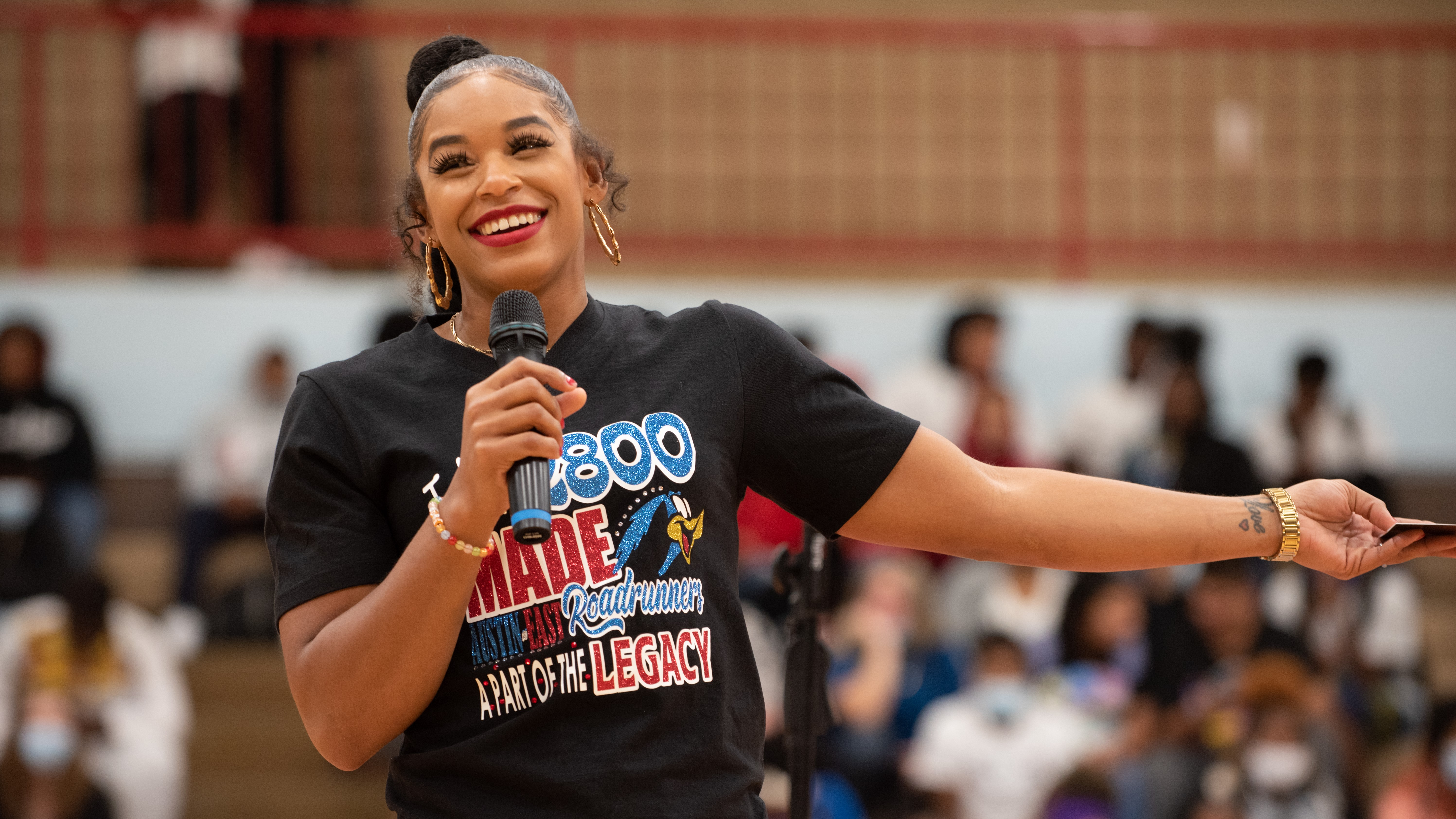 On Sept. 16, WWE Superstar and Austin-East graduate Bianca Belair visited the school for a Homecoming pep rally.