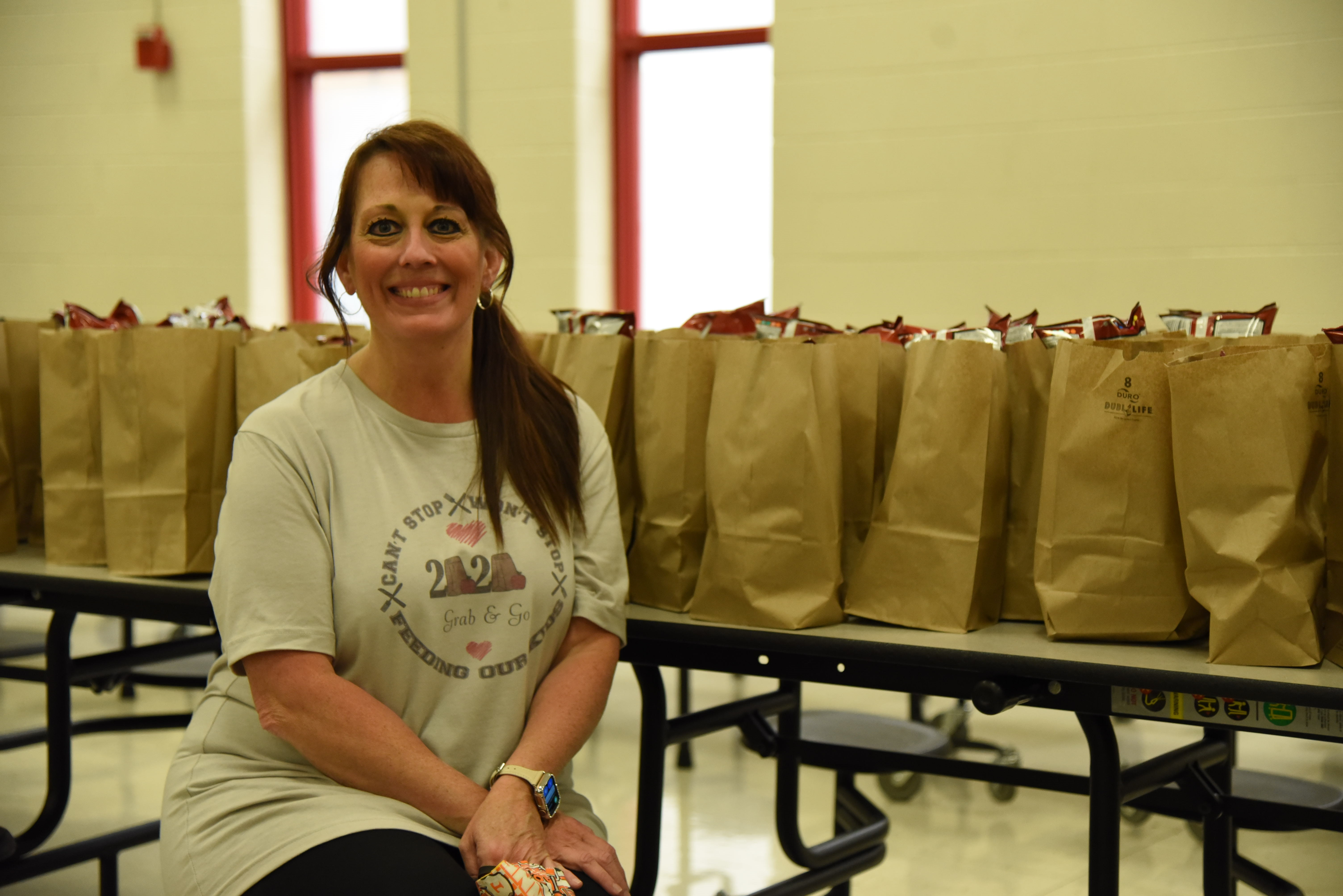 Tami Benziger is coordinating meal distribution at Halls High School during the extended closure. When school is in session, Benziger is the cafeteria manager at Gibbs Middle School.