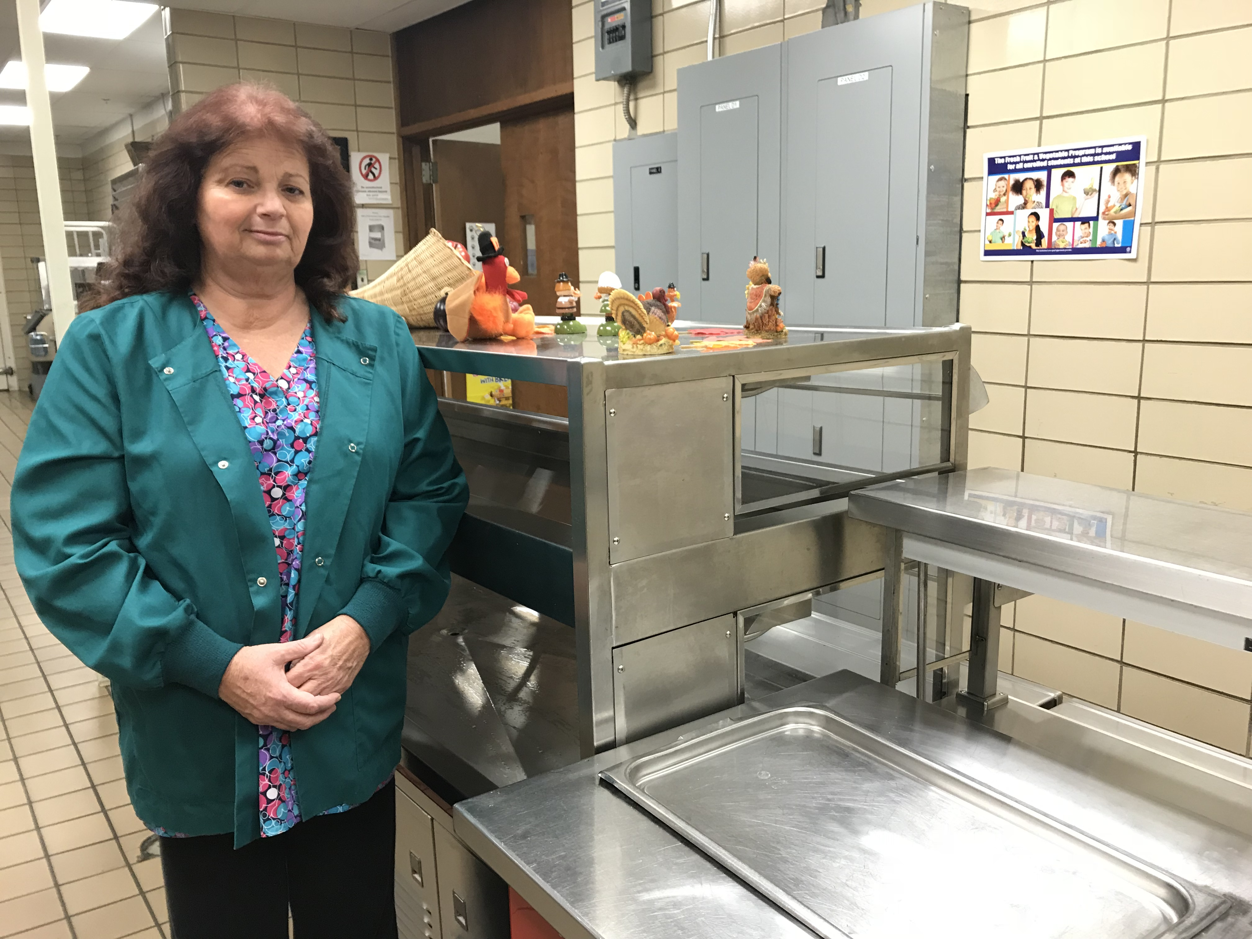 Deborah Cantonwine is the cafeteria manager at Inskip Elementary School.