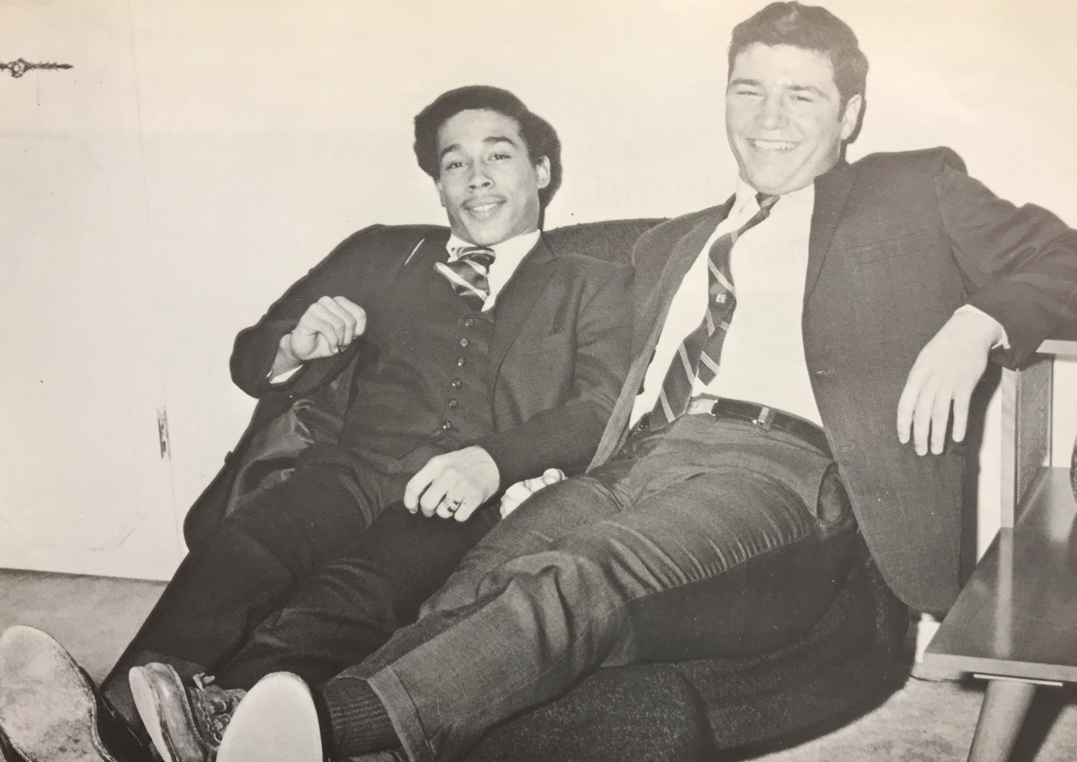 Carl Torbush, right, is pictured in a photo from the 1969 Austin-East yearbook.