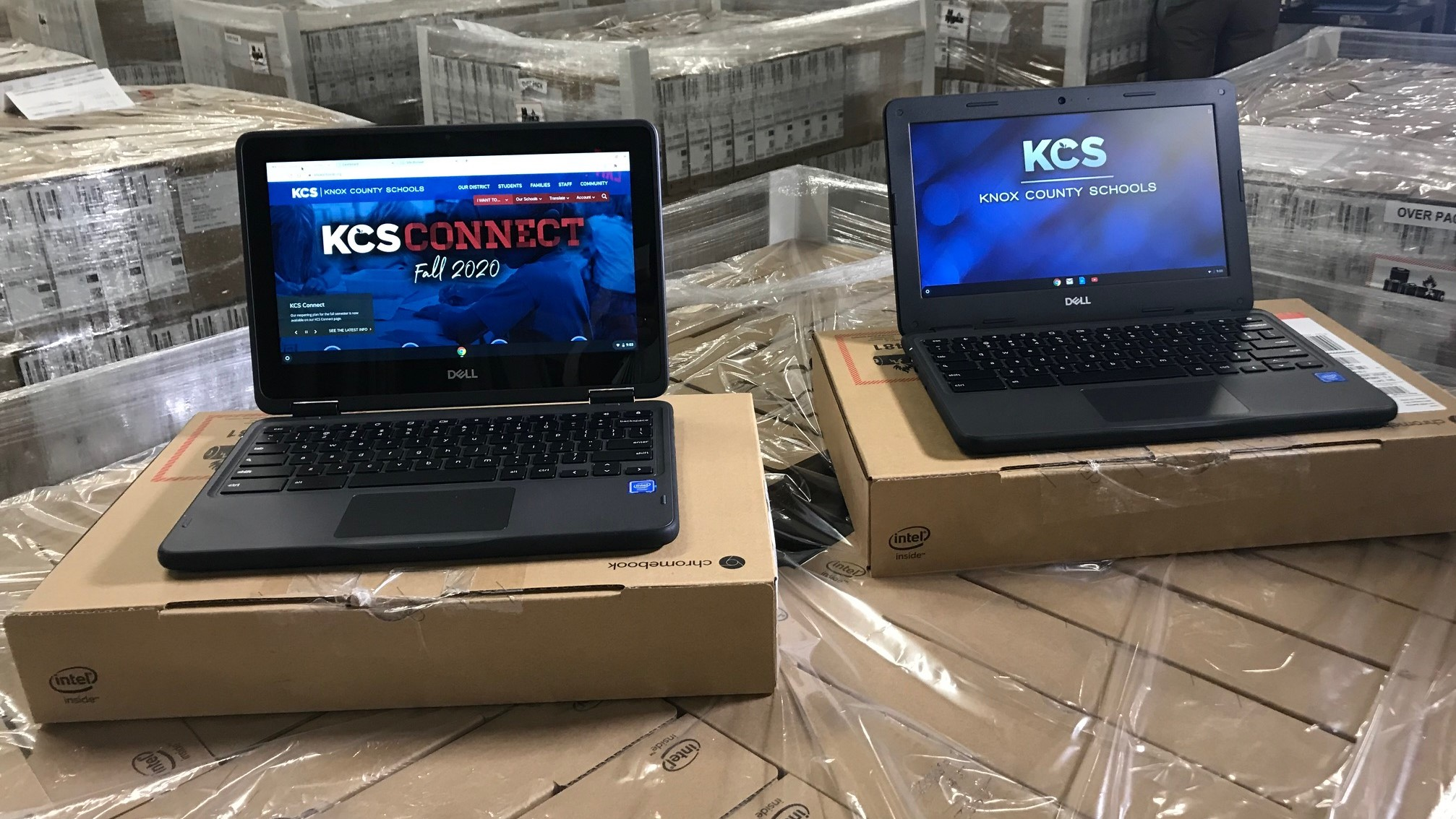 Under the district's new 1:1 initiative, K-2 students will receive touchscreen Chromebooks while students in Grades 3-12 will receive laptops.