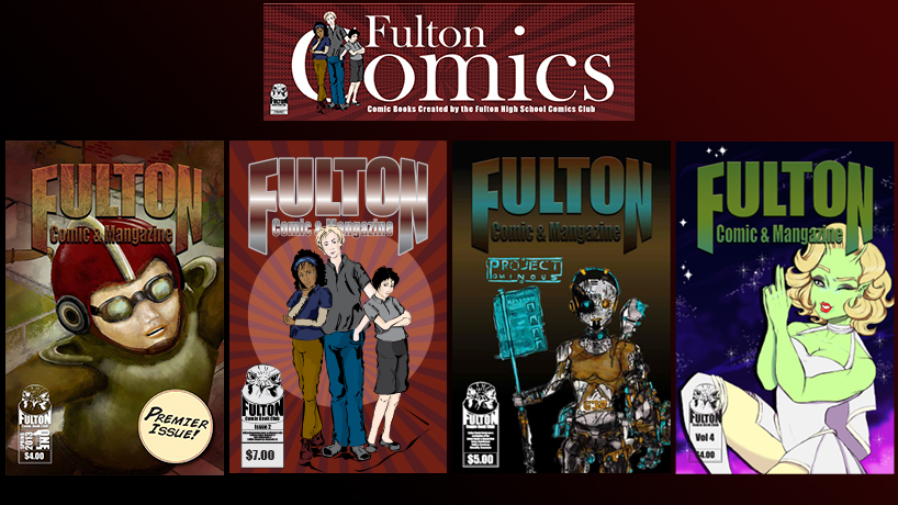 The Fulton High School Comics And Manga Club is celebrating its 10th Anniversary this year. The club's artists and writers have produced four books, pictured above, and have cultivated a thriving community of comics fans.