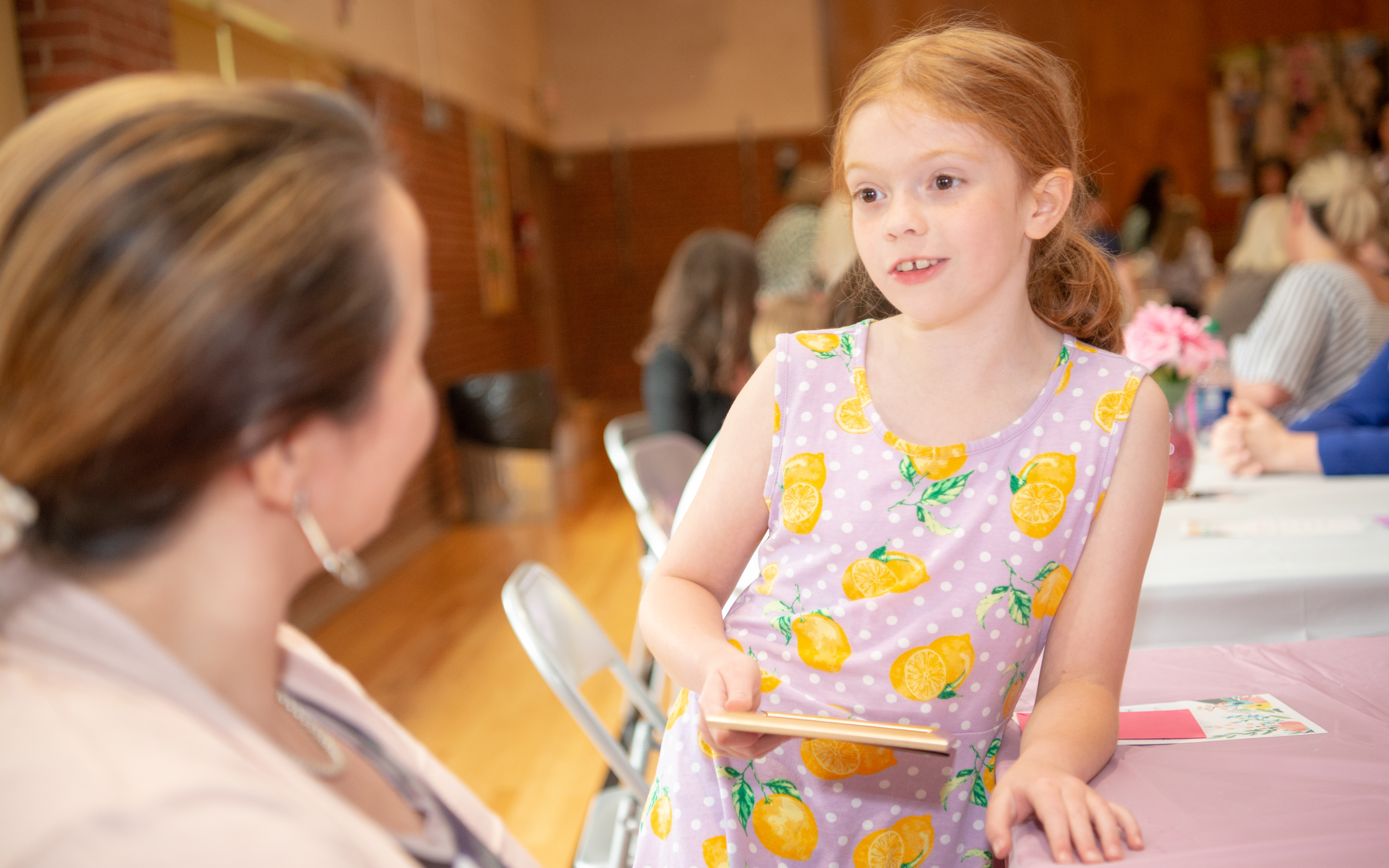 Eleanor Efurd, a 3rd-grader at South Knox Elementary, participated in a Girls Empowerment Lunch on May 9, 2019.