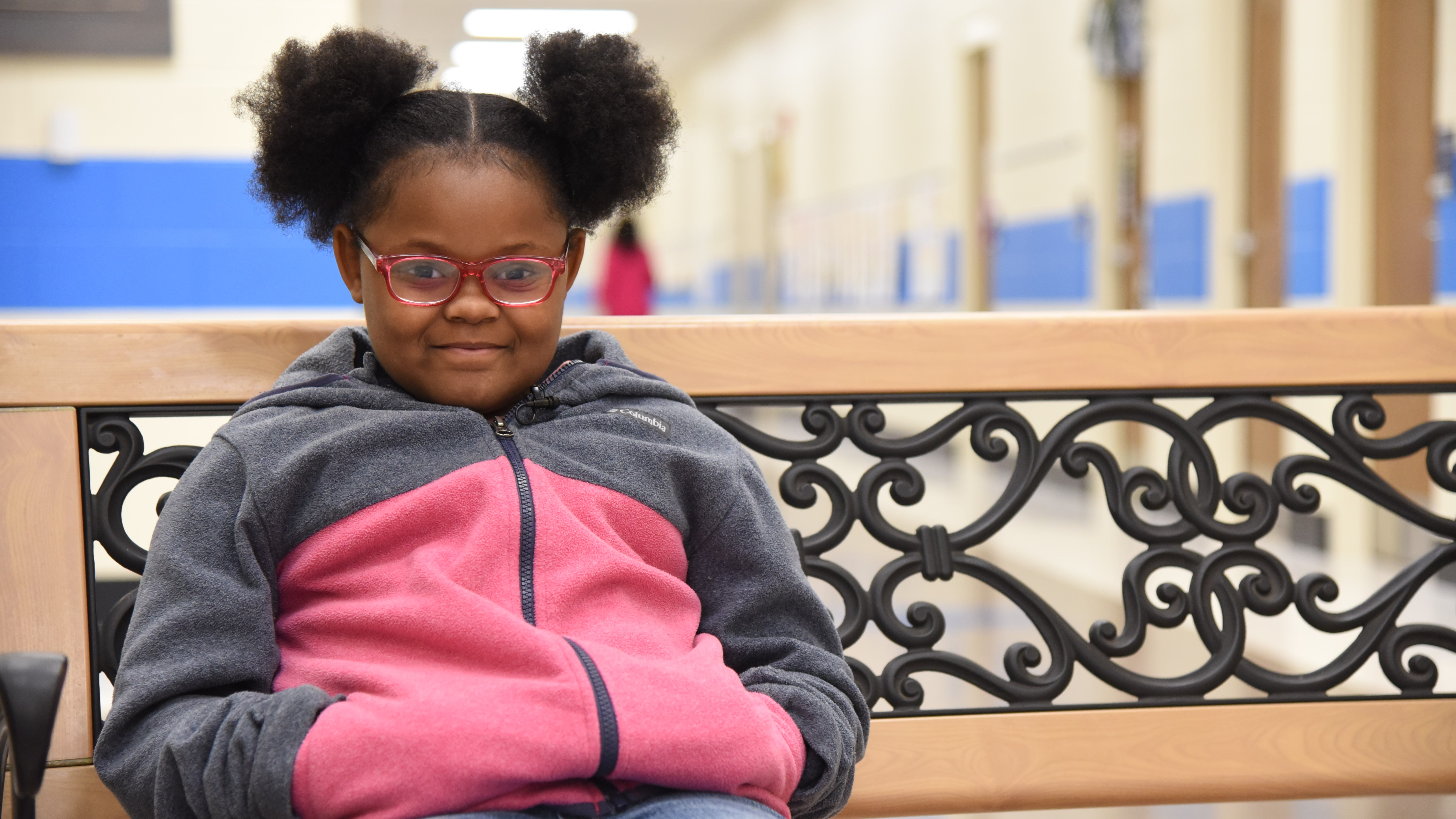 Kaelyn Martin, a 2nd-grade student at Inskip Elementary, says the school's bedtime story videos are fun, and help her fall asleep.