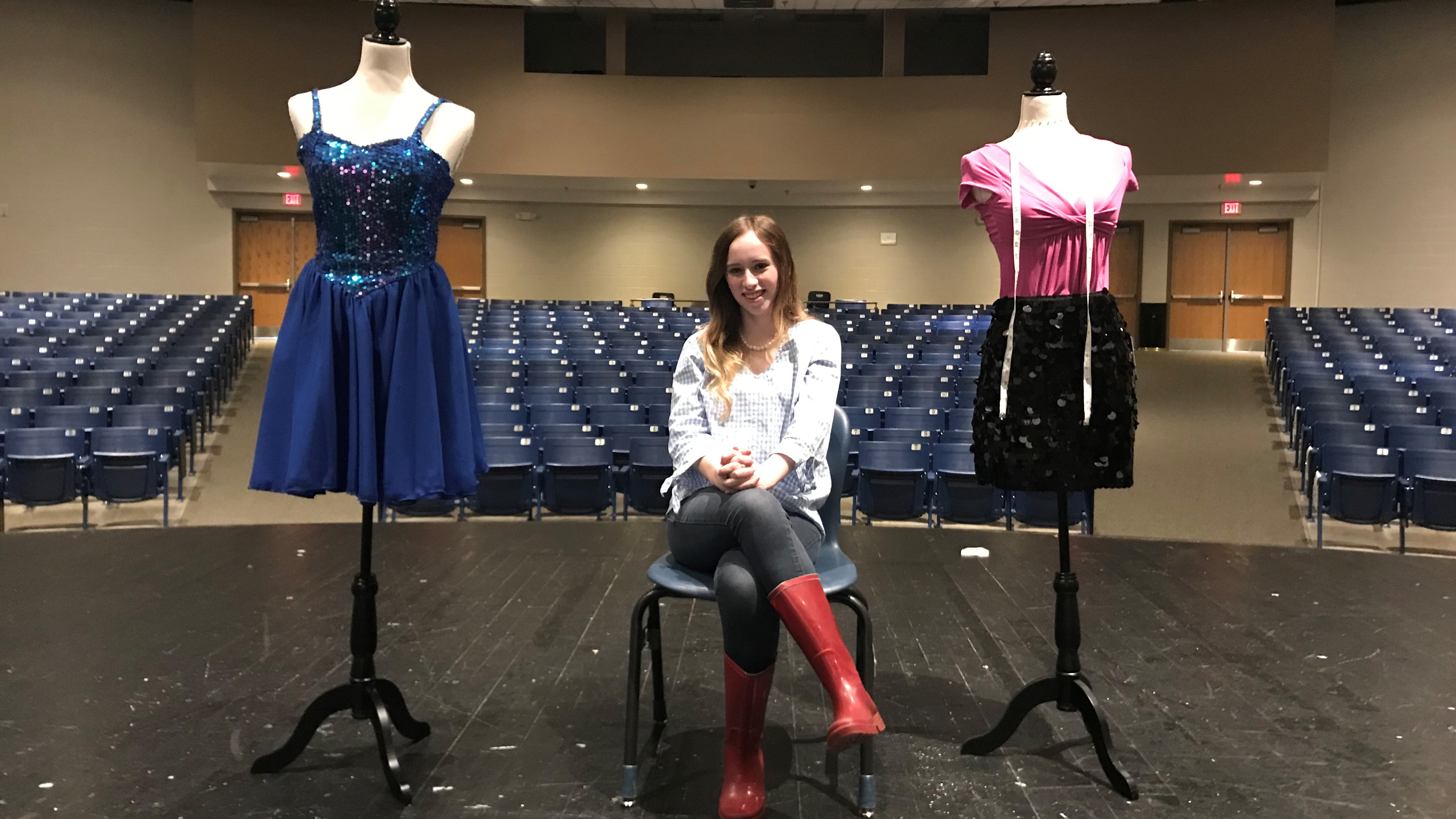 "Madison Ramsey coordinated the costumes for Hardin Valley Academy's upcoming production of ""High School Musical."" Her most ambitious project -- a prom dress she designed and crafted herself -- will be unveiled on Saturday, April 6, when she attends the HVA prom."