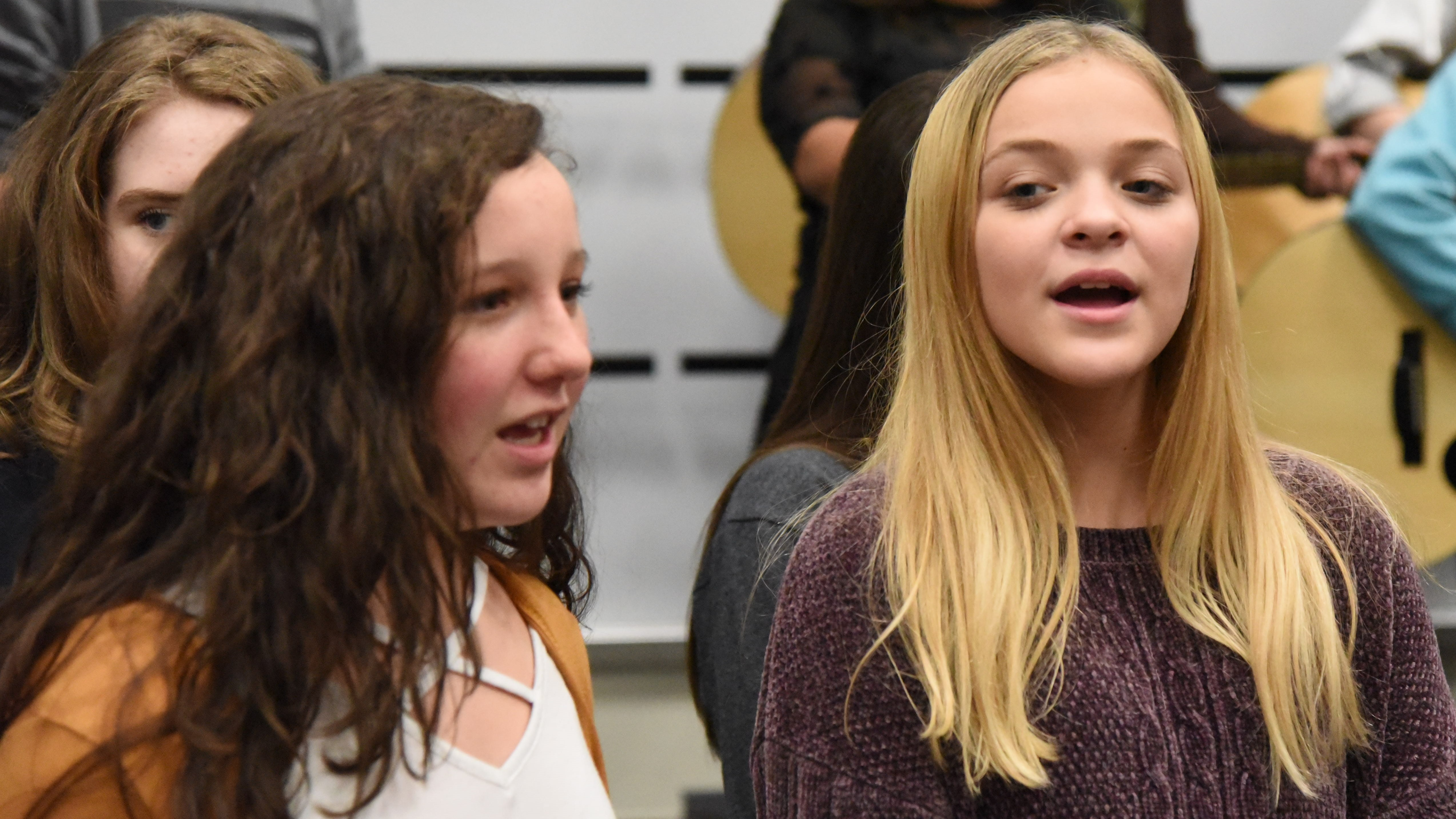 At a benefit concert for the Songbirds Foundation, 15 students from Karns Middle School will perform as backup singers for Chris Blue, while 10 students will play guitar.