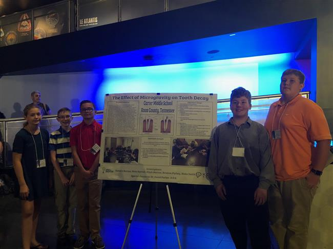 Carter SSEP Team Experiment is selected for Mission 12