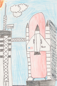 Benjamin Braden - Bonny Kate Elementary School - Space Shuttle Atlantis