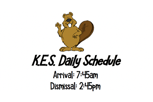 KES Daily Schedule 7:45am to 2:45pm