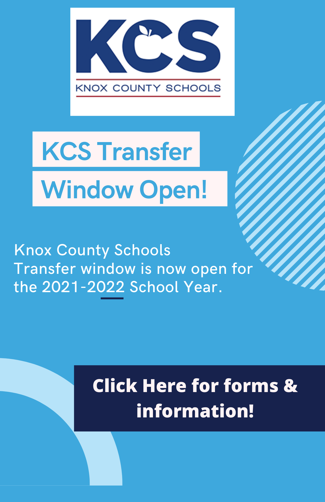 Transfer Window for Knox County Open