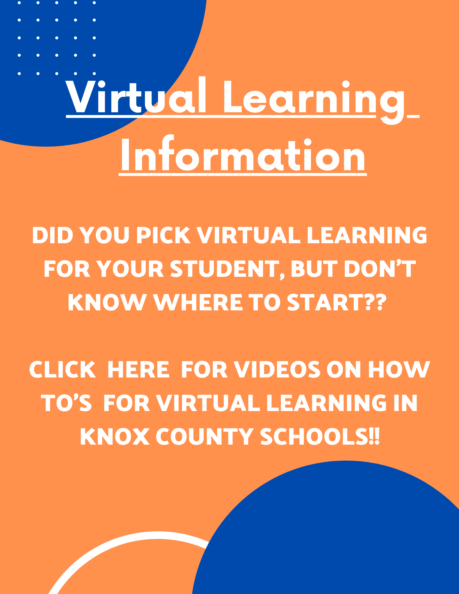 Virtual Learning Information