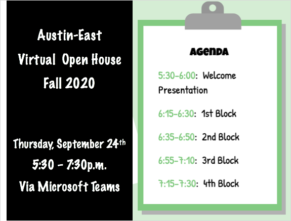 A-E Open House Fall 2020