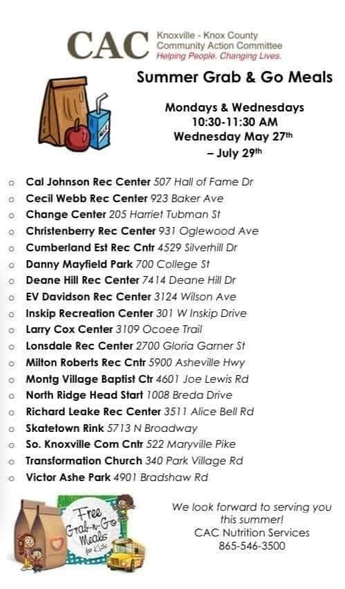 CAC Summer Meals