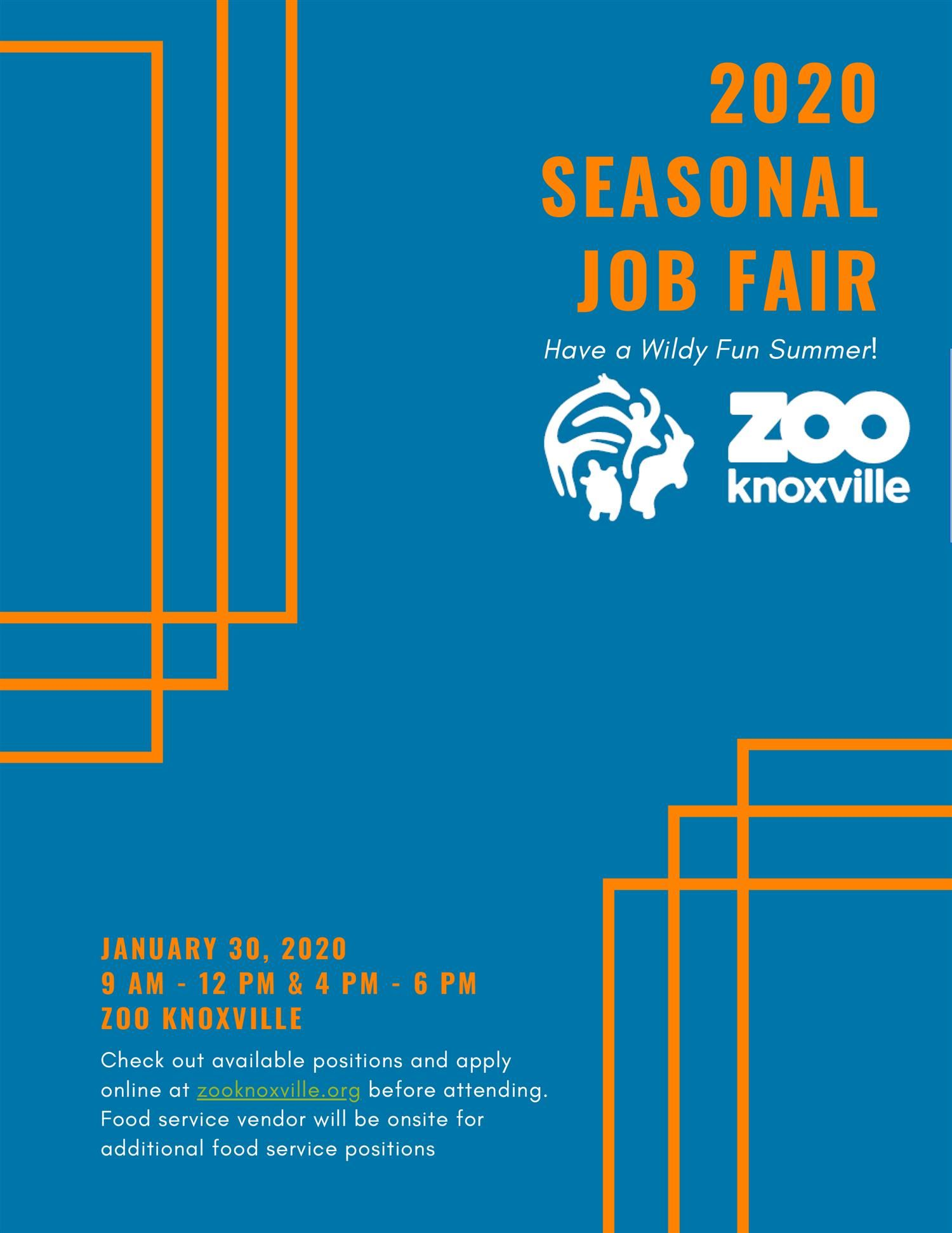 Seasonal Job Opportunity for students at Zoo Knoxville