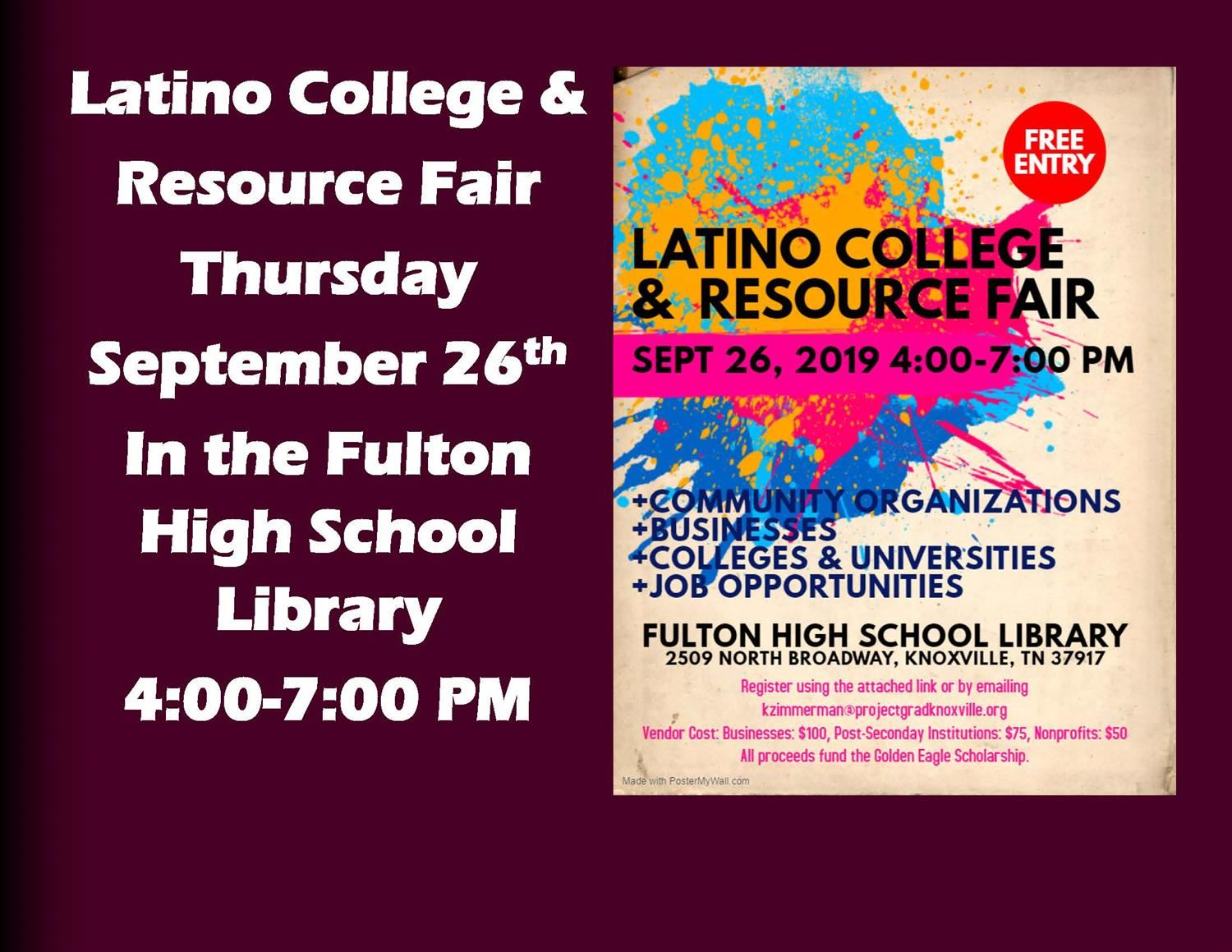 Latino College and Resource Fair