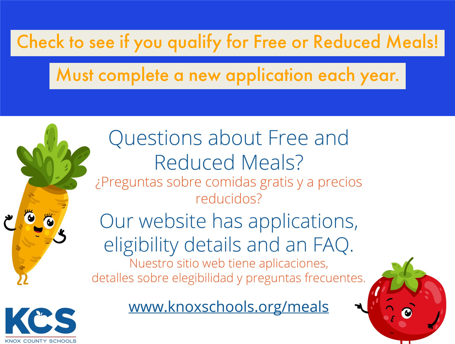 Visit www.knoxschools.org/meals