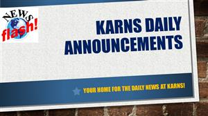 Karns Daily Announcements