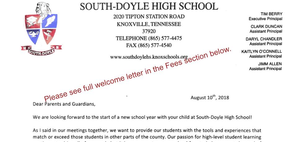 south doyle high school homepage