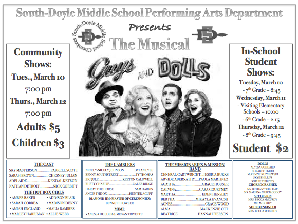 Guys and Dolls Promotion Poster